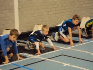 Michiel gaat een snelle sprint afleveren dankzij goede concentratie!